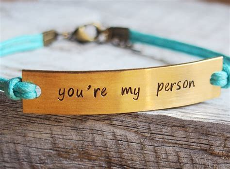 sted bracelet you re my person quote bracelet