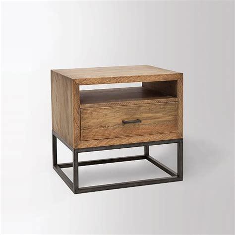 industrial nightstand industrial nightstand west elm