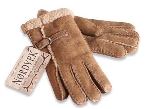 nordvek ladies 100 real sheepskin gloves wool stripe