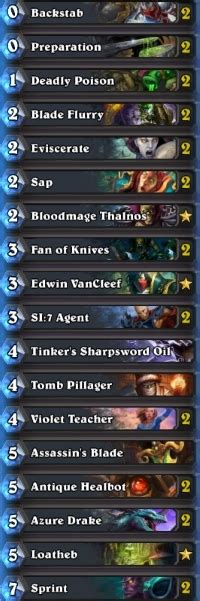 basic rogue deck rogue deck list guide april 2016 hearthstone