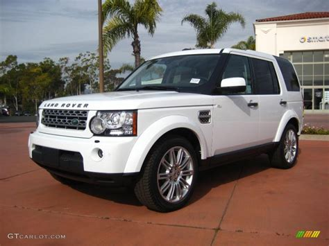 land rover lr4 white fuji white 2011 land rover lr4 hse lux exterior photo