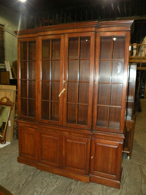 henkel harris china cabinet henkel harris solid cherry dining room breakfront china