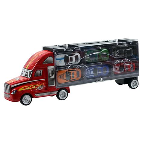 Car Minny Set 5in1 12pcs set portable mini pull back cars diecast alloy car model toys container truck