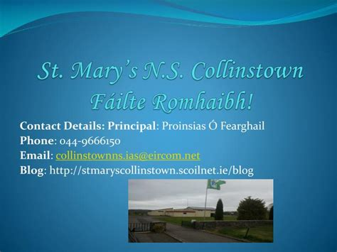 Ppt St Mary S N S Collinstown F 225 Ilte Romhaibh St Powerpoint
