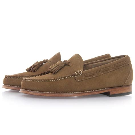 loafer shoes bass weejuns uk larkin velour mid brown suede loafer shoes