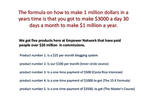 Getting 1 Million For by The Formula For 1 Million In 2013