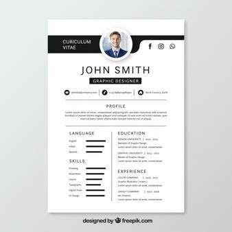Cv Template Vectors Photos And Psd Files Free Download Free Vector Resume Template