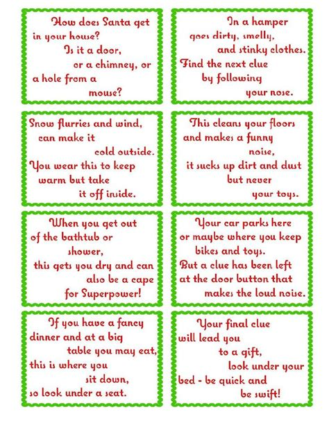 Treasure Hunt Cards Template by Treasure Hunt Clue Cards Page 2 Elfoutfitters