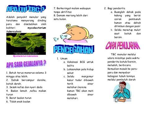 contoh format askep tb paru leaflet tbc akper muna