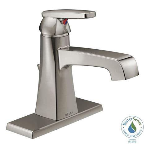 bathroom sink faucets single handle delta ashlyn single hole single handle bathroom faucet