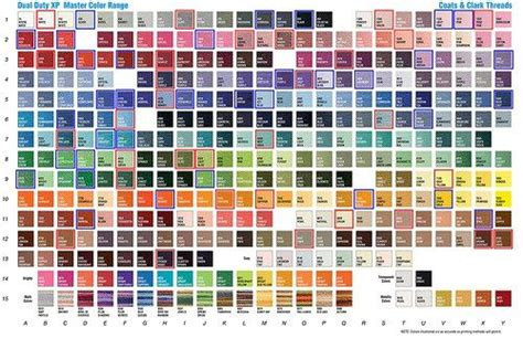 coats and clark thread color chart coats and clark embroidery thread color chart
