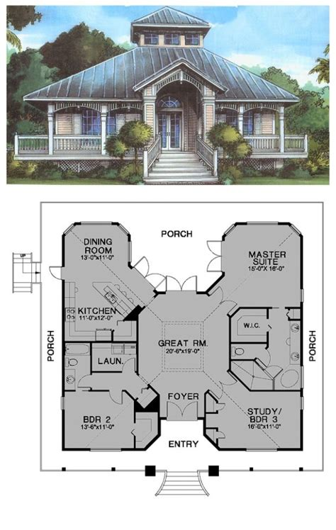 florida cracker style cool house plan id chp 24538