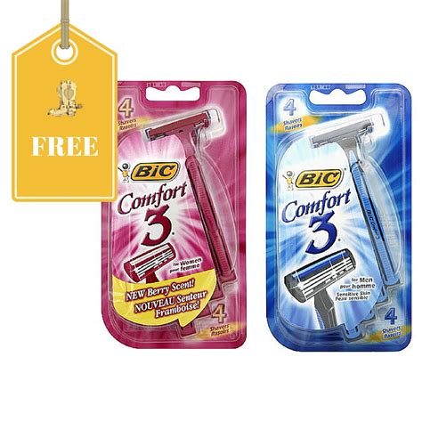bic comfort 3 razors free four pack of bic comfort 3 razors free store pickup