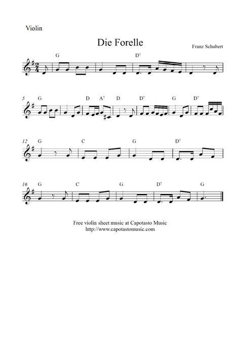 printable christmas violin sheet music free free printable violin sheet music die forelle