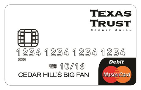 debit card template to understand cedar hill spirit card contest