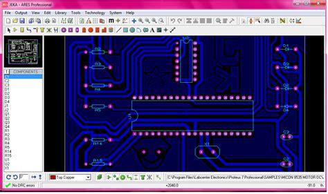 software desain layout pcb simulasi mikrokontroler skema rangkaian desain layout