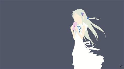 wallpaper anime minimalist meiko honma anohana minimalista wallpaper por
