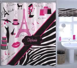 Eiffel Tower Bathroom Accessories Bathroom Decor Eiffel Tower Shower Curtain Zebra