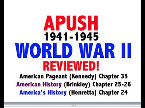 Chapter 10 American Pageant Outline by American Pageant Chapter 35 Apush Review