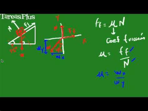 cálculo coeficiente de fricción youtube