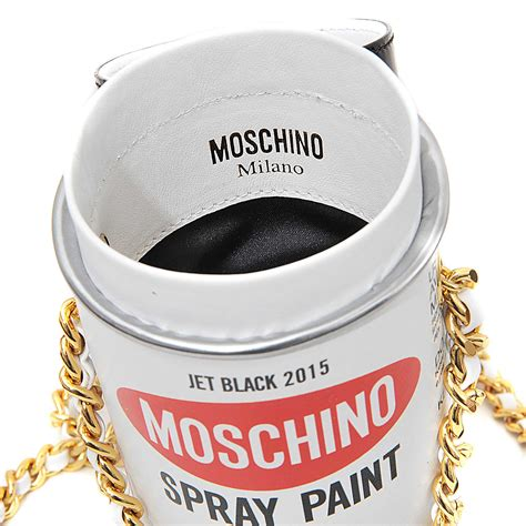 Moschino Spray Paint moschino spray paint shoulder bag in beige white lyst
