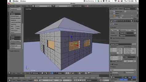 blender tutorial easy making a simple house in blender 2 71 beginner tutorial