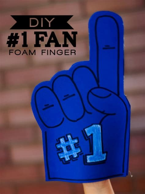 foam finger template one charming birthday ideas football