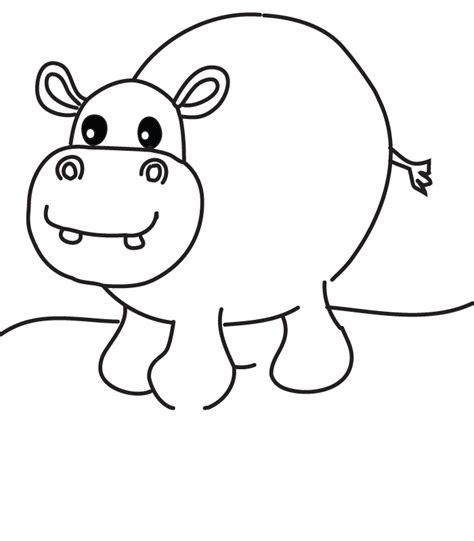 hippopotamus printable coloring pages