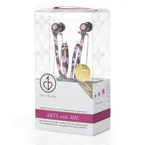 Chicbuds Arts Earbuds With Microphone Leandra chicbuds arts earbuds with microphone camille