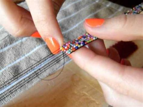 how to end a beaded loom bracelet here is a tutorial on how to make a bead loom