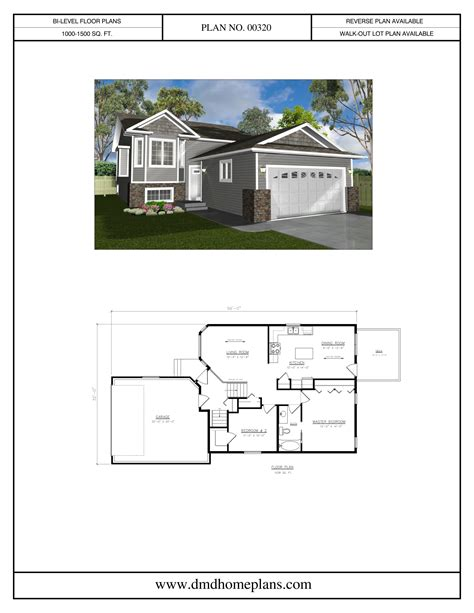 Bi Level Home Plans Bi Level Plans With Garage Dmd Home Plans