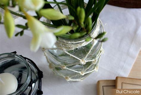 macrame decoracion diy de macram 233 para decorar botes de cristal rutchicote