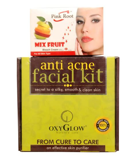 Oxyglow Acne oxyglow anti acne kit 165gm and pink root mix fruit