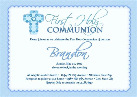 holy communion invitation cards templates holy communion invitations wording www pixshark