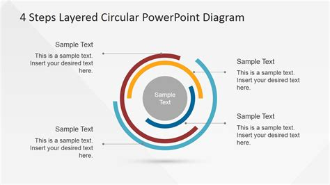 4 step segmented circular diagrams for powerpoint slidemodel 4 steps layered circular powerpoint diagram slidemodel