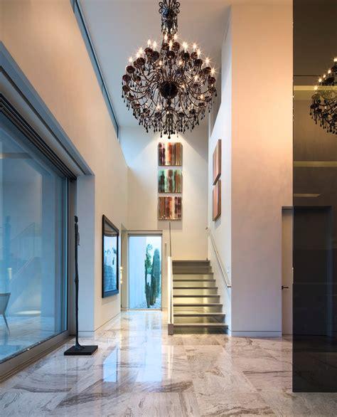 hallway stairs lighting contemporary house in ahmedabad modern stairs hallway dark chandelier mid century