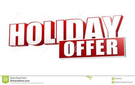 Offer Letter Holidays Offer In 3d Letters And Block Stock Images Image 36067564