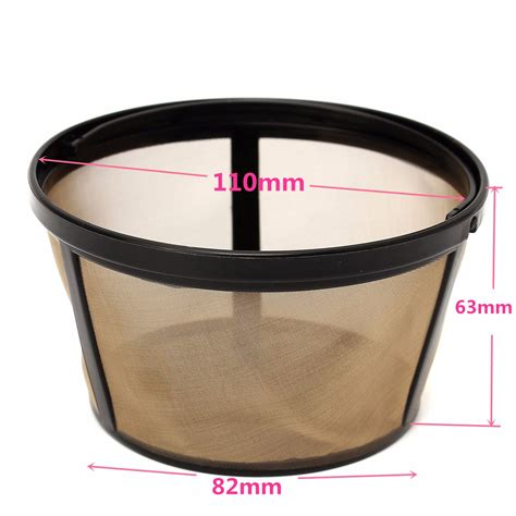 Basket Machine reusable gold coffee filter basket for 10 12 cup coffee