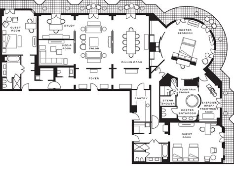 floor plans with in suite khazar presidential suite baku hotels four seasons