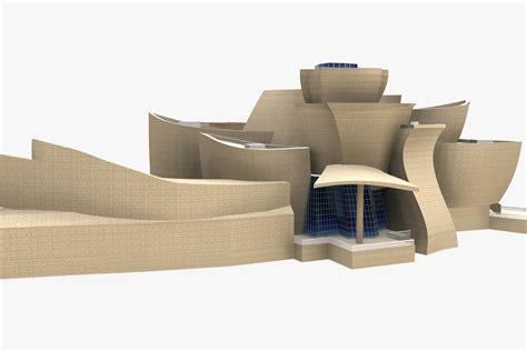 Floor Plan Vr guggenheim museum bilbao 3d model max obj 3ds fbx