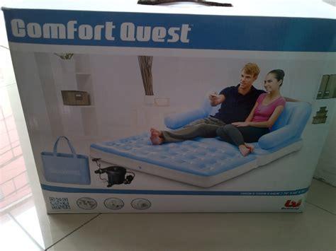 Sofa Angin Kursi Tidur Udara Fleksible Lipat Bisa Dii Kolam Renang sofa bed udara 5in1 bestway sofa bed angin bisa jadi tempat tidur