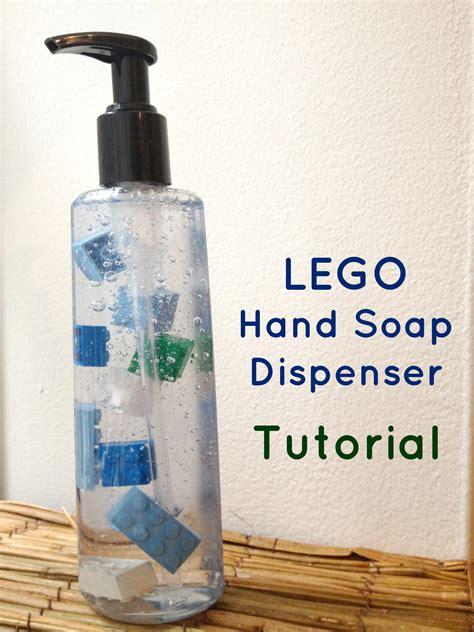lego hand tutorial glass soap dispenser bottles automatic soap dispenser