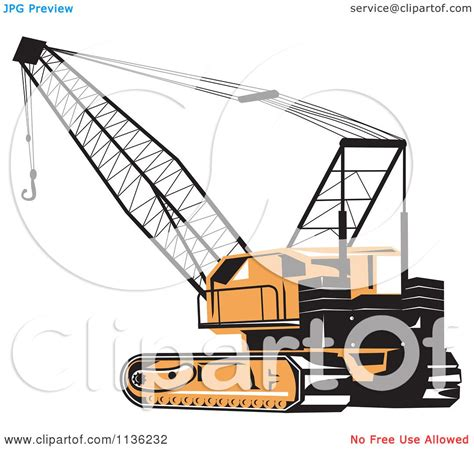 royalty free building contractor clip art vector images clipart of a retro construction crane royalty free
