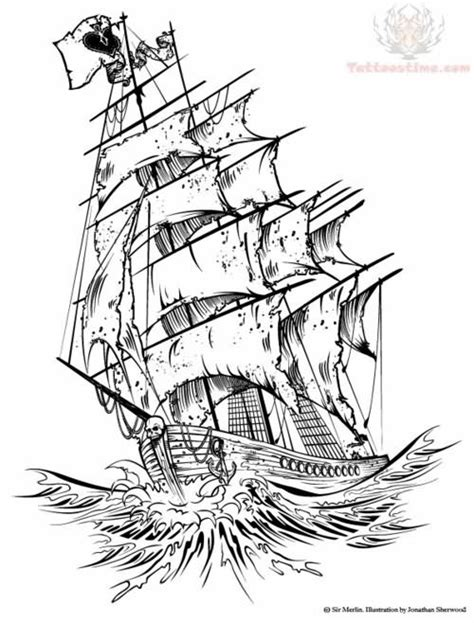 ghost ship coloring pages tumblr ship tattoo design