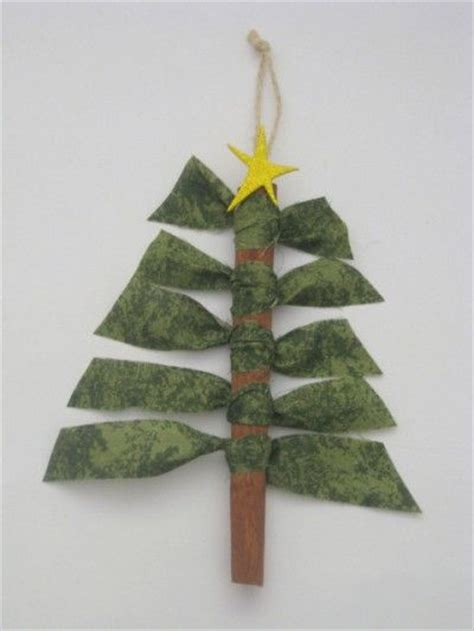 cinnamon stick tree ornaments use a popsicle stick and