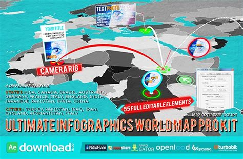 Videohive 3d World Map Pro Kit After Effects Template Free Download Free After Effects 3d Globe After Effects Template