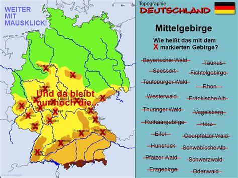 gebirgskarte deutschland topodeu topographie deutschland ppt