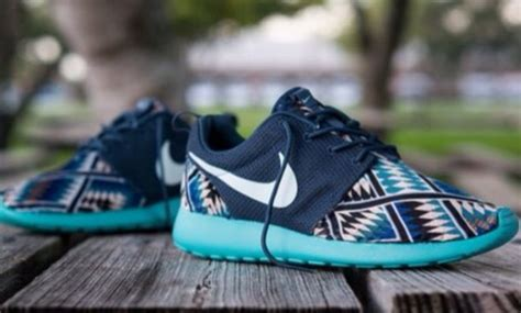 tribal pattern roshe runs shoes nike roshe run blue animal print nike roshe run