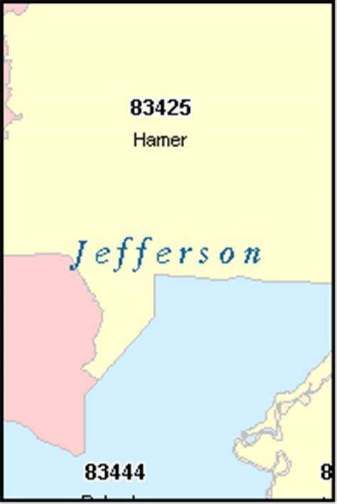 zip code map jefferson county al jefferson county idaho digital zip code map
