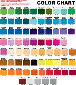 the are what color color chart